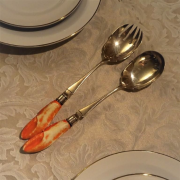 Very Unusual Kitsch Victorian Lobster Shaped Salad Servers